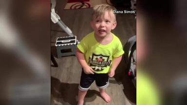 Boy gets upset after mom forgets to kiss him